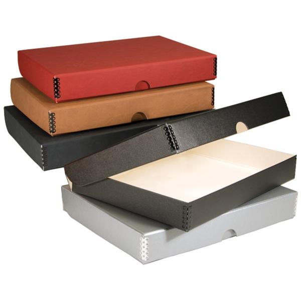 Lineco Folio Storage Bo Boxboard Metallic Faux Leather
