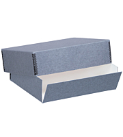 Lineco Drop Front Archival Boxes, Blue/Gray