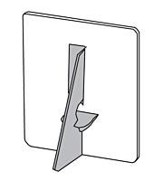 Easel Backs- Glue-On, Single Wing, Gray