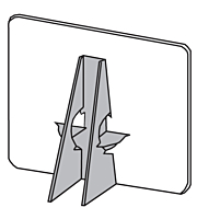 Easel Backs- Glue-On, Double Wing, Gray