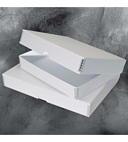 White Ostrich Folio Storage Boxes