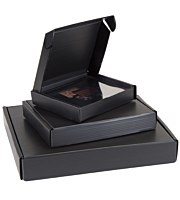 Black Polypropylene Clamshell Box