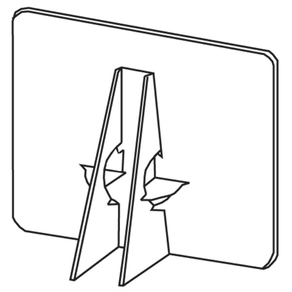 Easel Backs- Self-Stick, Double Wing