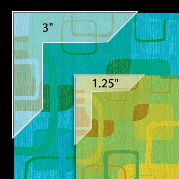 Polypropylene Mounting/ Framing Corners, Full View